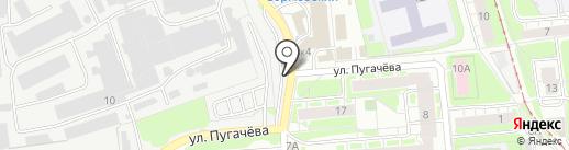 Волга НН на карте Нижнего Новгорода