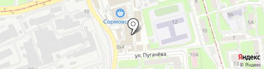 Магазин электрики на карте Нижнего Новгорода