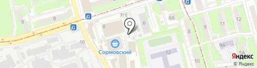 Океан на карте Нижнего Новгорода