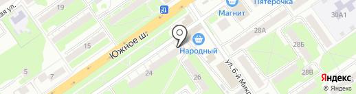 Аптечество на карте Нижнего Новгорода