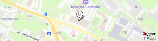Пластик на карте Нижнего Новгорода