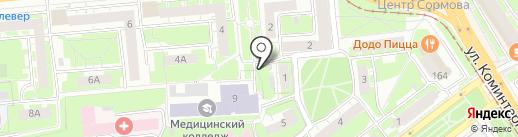 Киоск по продаже фастфудной продукции на карте Нижнего Новгорода