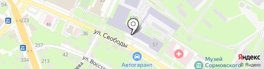 ЦКБ по СПК им. Р.Е. Алексеева на карте Нижнего Новгорода