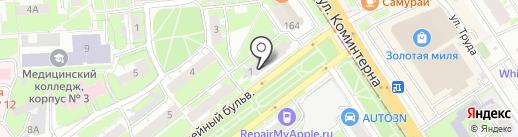 Весёлый садовник на карте Нижнего Новгорода