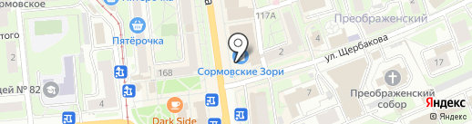 АМИГО на карте Нижнего Новгорода