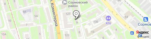 LookToMe на карте Нижнего Новгорода