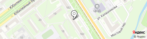Алёнушка на карте Нижнего Новгорода