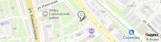 Независимый страховой центр на карте Нижнего Новгорода