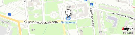 Магазин головных уборов на карте Нижнего Новгорода