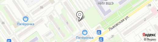 Арсенал на карте Нижнего Новгорода