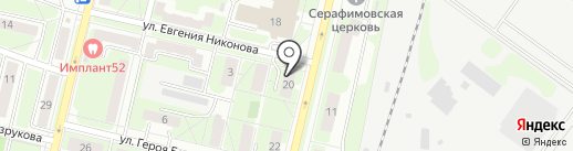 Lexet на карте Нижнего Новгорода