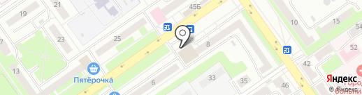 Вкусный дворик на карте Нижнего Новгорода