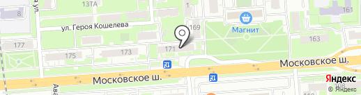 Салон-парикмахерская на карте Нижнего Новгорода