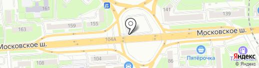 Амулет на карте Нижнего Новгорода