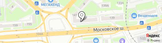 АБВ на карте Нижнего Новгорода
