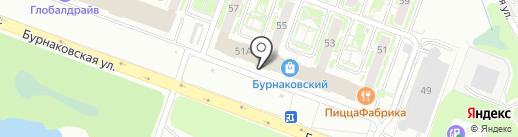 Коробочка на карте Нижнего Новгорода