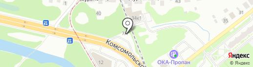 Платформа на карте Нижнего Новгорода