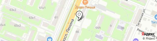 Печать Майи на карте Нижнего Новгорода