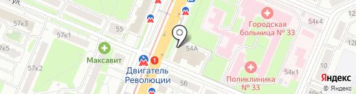 Банкомат, НБД-банк, ПАО на карте Нижнего Новгорода