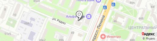 Благодать, КПК на карте Нижнего Новгорода