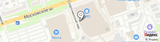 Ёлка на карте Нижнего Новгорода