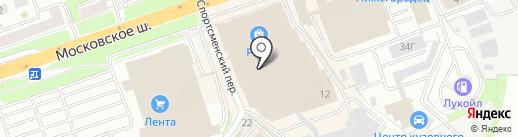 Muscle Bar на карте Нижнего Новгорода