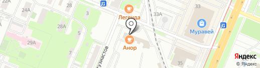 Магазин цветов на карте Нижнего Новгорода