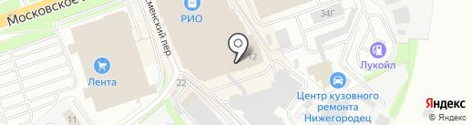НЕБОСКРЁБ на карте Нижнего Новгорода