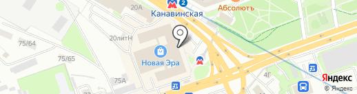 Колесо на карте Нижнего Новгорода