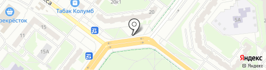 Магазин шаурмы на углях на карте Нижнего Новгорода