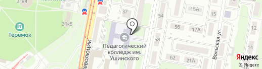 Нижегородский Губернский колледж на карте Нижнего Новгорода