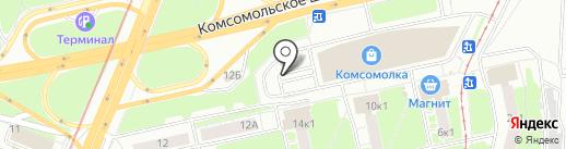 Строительная ярмарка на карте Нижнего Новгорода