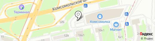 Магазин товаров для бани на карте Нижнего Новгорода