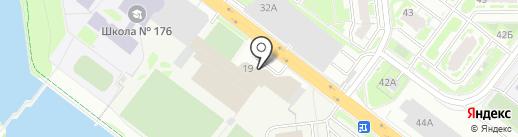 Тэфос на карте Нижнего Новгорода
