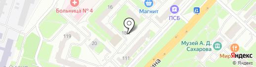 Киоск по продаже овощей и фруктов на карте Нижнего Новгорода