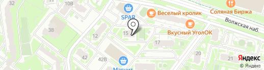La TESTO на карте Нижнего Новгорода