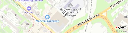 Свет дому на карте Нижнего Новгорода