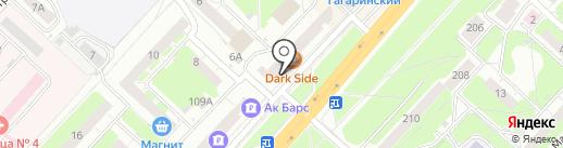 Дельта на карте Нижнего Новгорода