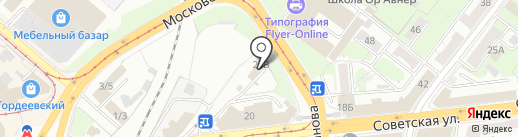 Свояк на карте Нижнего Новгорода