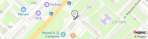Мини Мани на карте Нижнего Новгорода