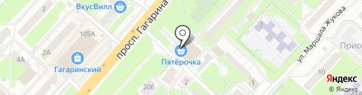 Табакофф на карте Нижнего Новгорода
