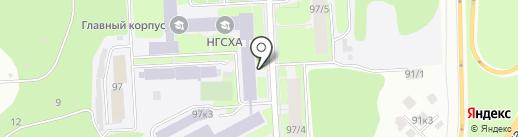 Нижегородская государственная сельскохозяйственная академия на карте Нижнего Новгорода