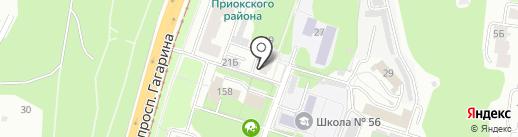 ВАТЕРКУБ НН на карте Нижнего Новгорода