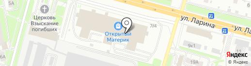 Мир сосны на карте Нижнего Новгорода