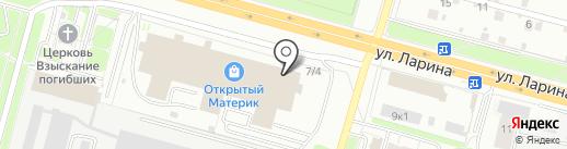 Мебельбург на карте Нижнего Новгорода