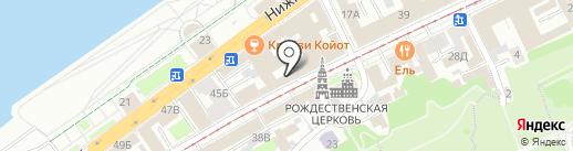 SV hostel на карте Нижнего Новгорода