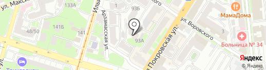 Альянс-Техно на карте Нижнего Новгорода