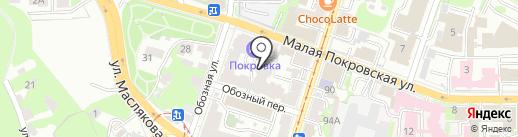Квизо на карте Нижнего Новгорода