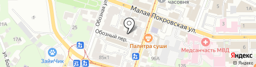 Insania на карте Нижнего Новгорода
