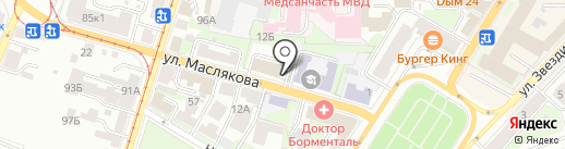 Абхазия на карте Нижнего Новгорода